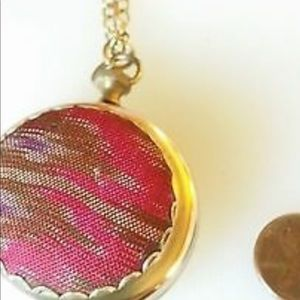 Lenora dame vintage long locket necklace